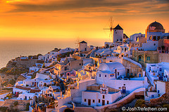 Stunning Sunset in Santorini